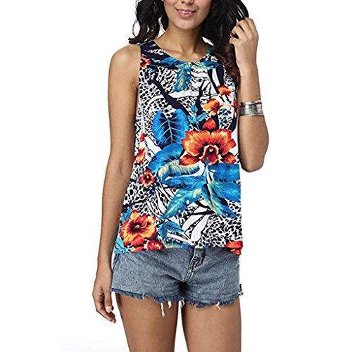 Sommer Weste Tops ärmellose Bluse Frauen Damen bedrucktes T-Shirt Casual Tank Top,Grün,S (Frauen Hardy T-shirt Ed)