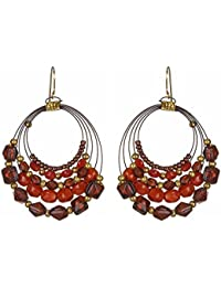 DCA Glass Multicolor Earrings for Women