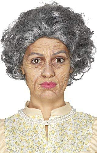 Fancy Me Damen Herren Halloween Alterung Alt Oma Bad Großvater Latex Make-Up Spezialeffekt Make-Up Kostüm Kleid Outfit Zubehör Set (Kleider Halloween Und Make-up)