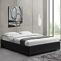 Lit Design Noir avec sommier 160 x 200 cm - Nocta