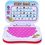 BBS Educational Computer ABC And 123 Learning Kids Laptop With LED Display And Music - Pink