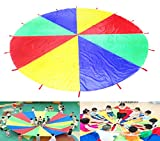 HANGQI(R) 3M Large Play Colorful Parachute Kids Children Outdoor Game Exercise Sport Toy