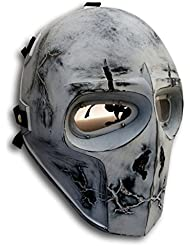 Army of Two WTHITE SKULL Airsoft máscara protectora Gear Sport Party Fancy exterior Ghost Máscaras Bb Gun