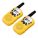 QZT T-388 8 Kanal Kinder Walkie Talkies Transceiver Twin Walkie Talkies UHF 400-470 MHZ 2-Wege Funksprechanlage mit LED-Lichtanzeige - Gelb