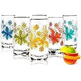 Sables & Reflets 6 Verres à Eau, Soda et à jus/Collection Langages des Fleurs / 350 ML de