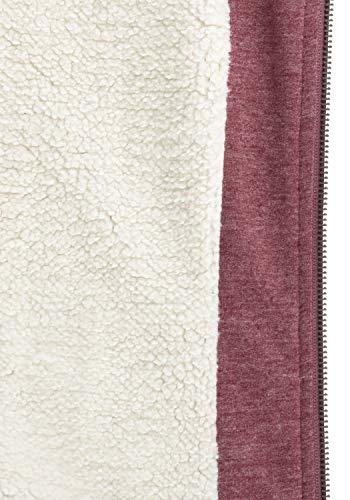 DESIRES Mandy Pile Damen Sweatshirt Pullover Pulli Mit Teddy-Futter, Größe:XS, Farbe:Wine Re P (P8985) - 6