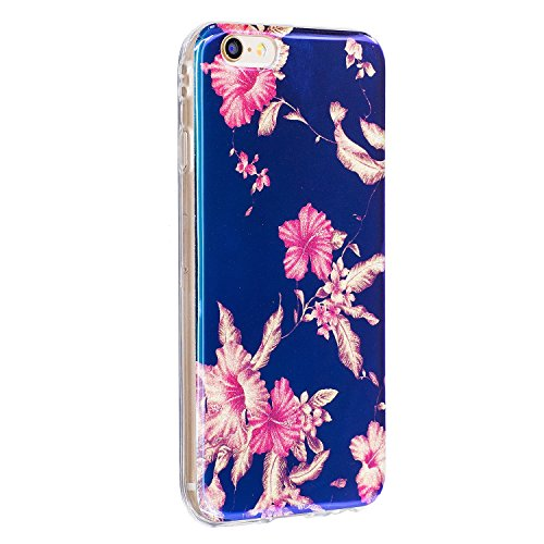 Pour Apple IPhone 5 & 5s & SE Case, Ultra Thin Light Weight Luxe Bleu Light TPU Silicone Gel Protecteur Back Cover ( Color : B ) D