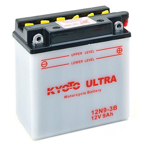 KYOTO Batterie Moto Yb9l-b 12N9-3B L 137mm W 76mm H 140mm 12v 9ah Acide 0,6l