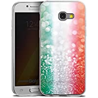 Samsung Galaxy A5 (2017) Slim Case Silikon Hülle Schutzhülle Italien Fahne Glitzer
