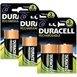 Duracell Rechargeable D Size Batteries--Pack of 6