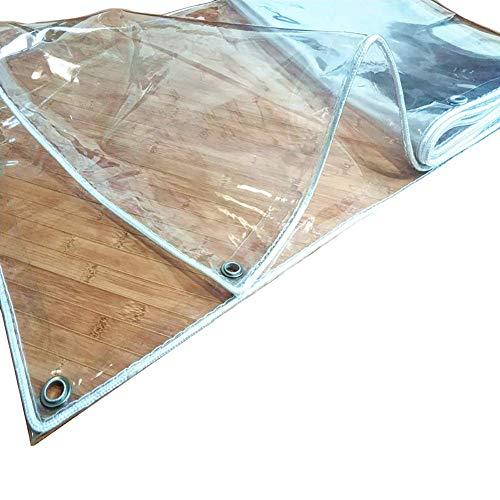 Plane wasserdicht Vorhang für Balkon Fenster Garten Schwimmbad, Dicke transparente Reversible Regenschutzfolie (Größe: 1,4 \u0026 mal; 1,8 m) -