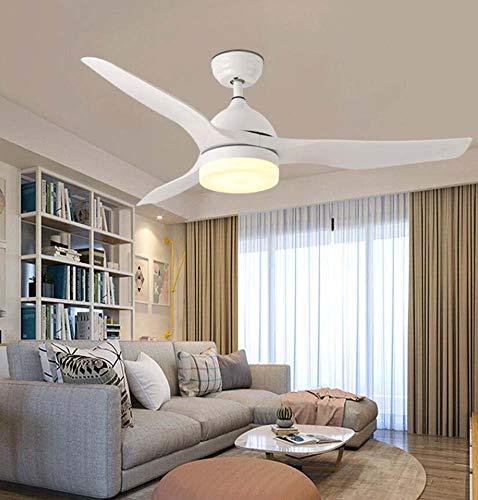 Decke Fan Light Modern Minimalist Living Room Bedroom Dining Room Multi-Purpose Electric Fan Light LED Kronleuchter,White Led Multi-purpose Light