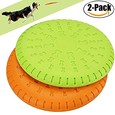 Dog Frisbee,Legendog Best Dog Frisbee Indestructible Dog Flying Disc ABS Material Floatable Dog Toys Pet Teeth Training Toys for Puppies, Small, Medium and Large Dogs