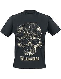 The Walking Dead Skull Camiseta Negro