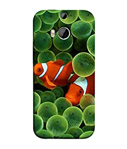 Fuson Designer Back Case Cover for HTC One M8 :: HTC M8 :: HTC One M8 Eye :: HTC One M8 Dual Sim :: HTC One M8s (Plywood Colorful Multicolor Artist Painting Male)