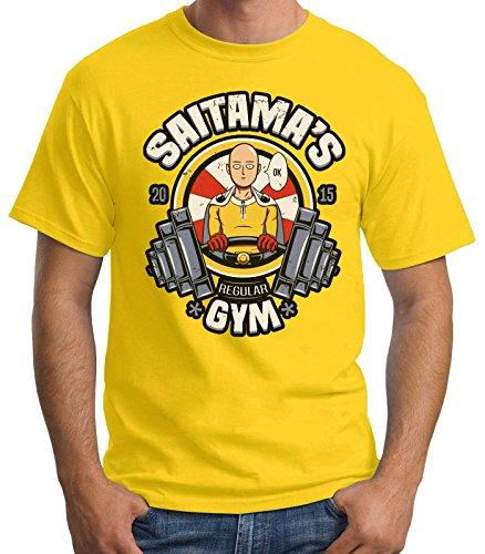 35mm - Camiseta Hombre Saitama's-Regular Gym, AMARILLO,...