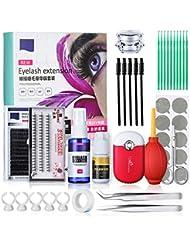 Wimpernverlängerung Set, Luckyfine Professionelle Wimpern Verpflanzen Curl Glue Tool Set, Make-up Praxis Wimpern Graft
