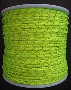 Gepolight Flechtleine/Flechtschnur/Seil stark reflektierend 4.5mm-10meter neongelb