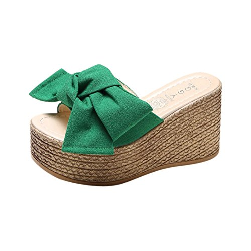 Liuchehd sandali donna con zeppa estive elegant scarpe donna estive eleganti scarpe donna tacco medio sandali gioiello sandali pantofole (blu, asia 37)