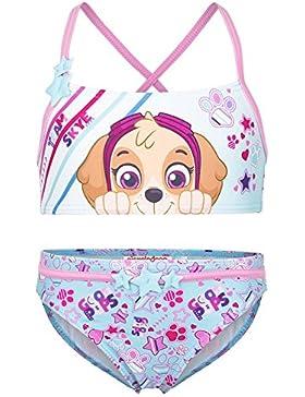 Paw Patrol - Costume 2 Pezzi Bikini con Stelline Riportate - Full Print Mare Piscina - Bambina - Novità Prodotto...