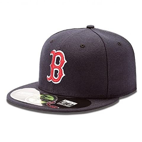 New Era Erwachsene Baseball Cap Mütze Mlb Authentic Boston Red Sox 59Fifty Fitted Team Colour, Blau, 6 7/8, 10010244