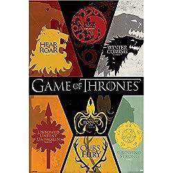 Grupo Erik Editores Poster Game Of Thrones Sigils