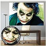 Great Art XXL Póster - Joker - Mural De Retrato Heath Ledger, Batman El Caballero Oscuro Payaso Película, Gotham Villano Héroe Cómico Cartel De Pared Foto Y Decoración (140 X 100 Cm)
