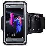 CoverKingz Huawei Honor 9 Sportarmband Fitness-Hülle Schwarz Jogging-Case mit Schlüsselfach Handy-Lauf-Tasche Running-Case Handy-Tasche Sport Fitness-Armband