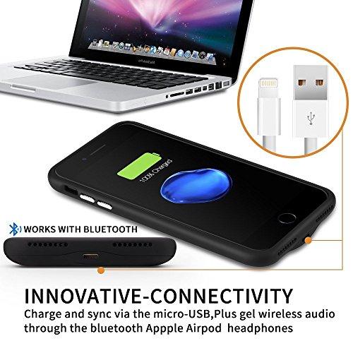 iPhone 7Compartiment de batterie, 3000mAh Ultra fin (12mm) iPhone 7(11,9cm) étui de chargement 120% Extended Battery Pack d'alimentation banque de jus de Cases Coque (Noir)