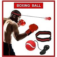 XCOZU Boxen Reflex Ball - Fight Ball Reflex Training, Sport Boxing Punch Ball auf Schnur mit Stirnband Trainingsgeschwindigkeit Reaktionen Punch Fokus für Erwachsene/Kids Gym Boxen MMA