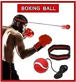 XCOZU Boxing reflex Ball–Fight Ball reflex boxe esercizio, Portable Boxing punch Ball on string con fascia per allenamento velocità reazioni punch Focus per adulti/ragazzi ginnastica, boxe, MMA