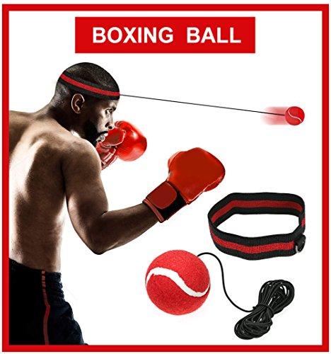 Boxen Reflex Ball - Fight Ball Reflex Training, Sport Boxing Punch Ball auf Schnur mit Stirnband...