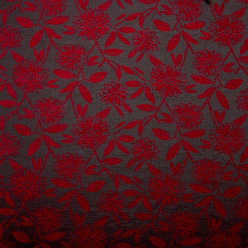 floral-swirl-upholstery-fabric-cosmos-charcoal-red