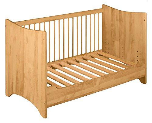 BioKinder 23171 Emma Spar-Set Babybett Kinderbett mit Umbau-Bettseite aus Massivholz Erle (Erle-set Bett)
