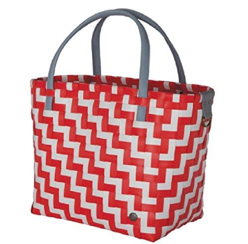 Handed Shopper Waves Sac de Courses Rouge/Blanc