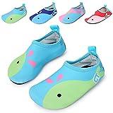 Amkun Kids Swim Water Shoes Barefoot Aqua Socks Shoes for Beach Pool Surfing Yoga (10.5-11 M UK Little Kid, Light Blue)