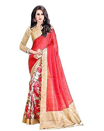 Indische Bollywood Hochzeit Saree indische ethnische Hochzeit Sari Neue Kleid Damen lässig Tuch Geburtstag Ernte Top Mädchen Frauen schlicht traditionelle Party Wear Readymade Kostüm (Yell hase) -