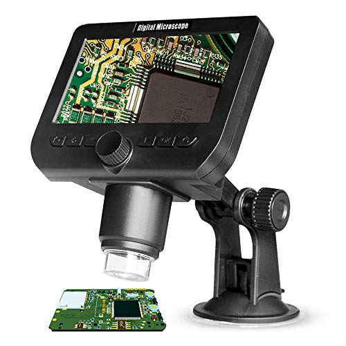3CTECH 1000X Digital Microscope Electronic Video Microscope 4.3 inch HD LCD Soldering Microscope Phone Repair Magnifier Wireless-digital-video-recording-system