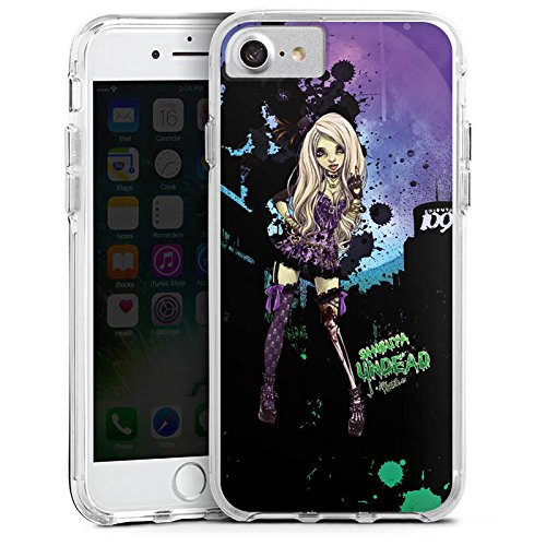 Apple iPhone 8 Bumper Hülle Bumper Case Glitzer Hülle Art Girl Comic Bumper Case transparent