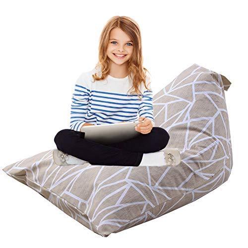 blue page Sitzsack für Kinderliege, 100% Baumwollleinen, gefüllter Sitz, 66 x 94 x 55,9 cm, Blau,...