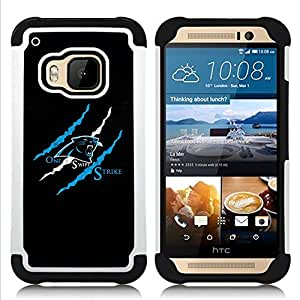 King Case - One Swift Stroke Puma - Full Armor Hybrid Body protection Defender Housse Armure Housse de protection - For HTC ONE M9