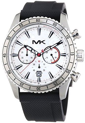 Michael Kors MK8353 - Reloj para hombres, correa de goma color negro