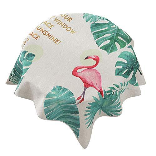 JUNGEN Mantel Cuadrado Mantel de Mesa de Redondo Mantel Estampado Moderno Mantel de Lino Mantel pequeño para Comedor Cocina Jardín Size 70x70cm (Verde b)