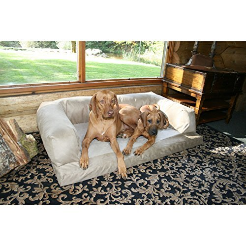 xxl-dog-bed-orthopedic-foam-sofa-couch-extra-large-size-great-dane-microsuede-tan-cream-by-hidden-va
