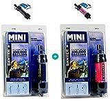 Sawyer Mini Pointone - Filtre à eau pour extérieur, camping, MINI, 2-er Set Schwarz-Pink, 2-er Set