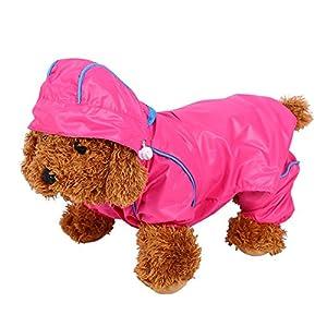 Manteau Imperméable Veste De Pluie Rose Étanche 6 Tailles Avec Capuche Protection Vêtements Pour Chien Chiot Animal