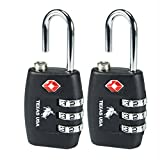 #3: Texas Usa Pack Of 2 Metal Yellow Luggage Lock