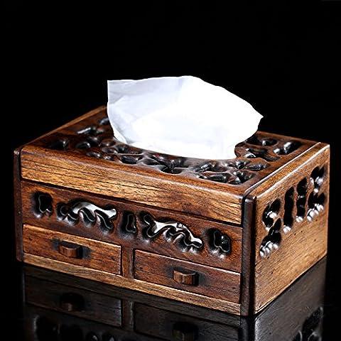 YUENLONG Funzione elegante coraggio di legno vuota la casella carta creative accesso domestico di ammettere una cartuccia