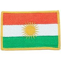Kurdistan Bandiera Toppa–Ala rengîn–cucire o Patch termoadesivo da stiro