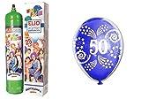 Helium Gasflasche + Luftballons 50Jahre